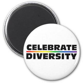 Celebrate Diversity 2 Inch Round Magnet