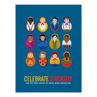 Celebrate Diversity Multicultural Day Print
