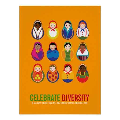 Celebrate Diversity Multicultural Day Posters