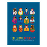 Celebrate Diversity Multicultural Day Print
