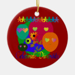 Celebrate Diversity Double-Sided Ceramic Round Christmas Ornament