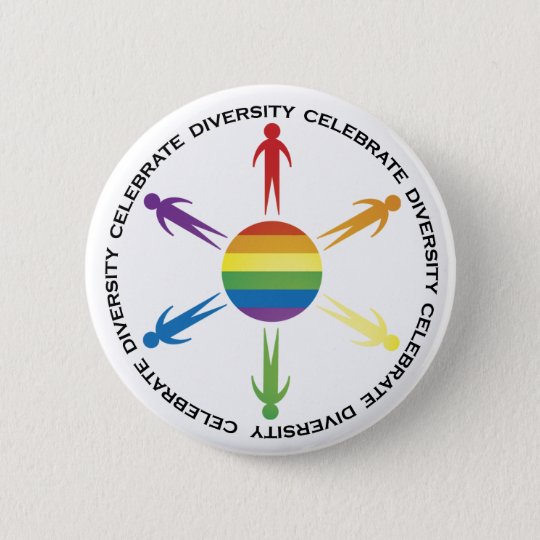 Celebrate Diversity Pinback Button