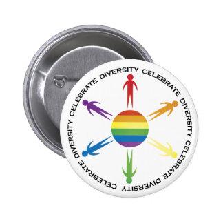 Celebrate Diversity Pinback Button