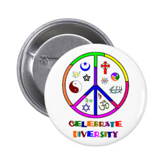 Celebrate Diversity Pinback Buttons