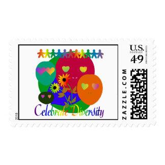 Celebrate Diversity Postage Stamp