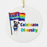 Celebrate Diversity Pug Tees and Gifts 2013 Ornaments