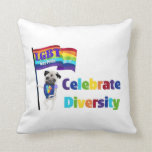 Celebrate Diversity Pug Tees and Gifts 2013 Pillow