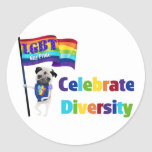 Celebrate Diversity Pug Tees and Gifts 2013 Stickers