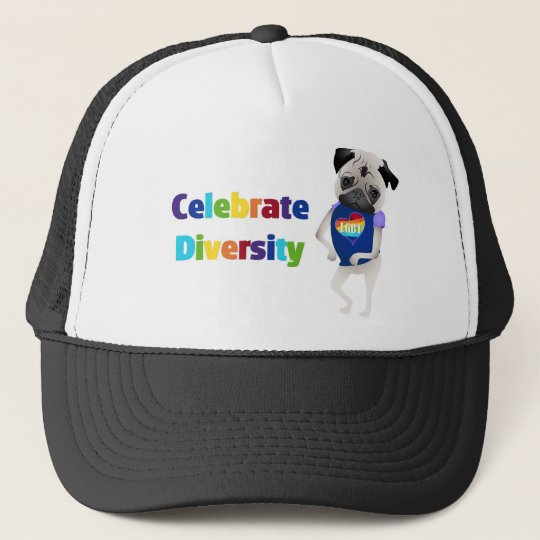 Celebrate Diversity Pug Tees and Gifts 2013 Trucker Hat