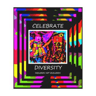 Celebrate Diversity Quote Canvas Print