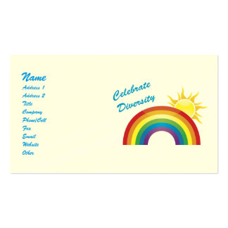 Celebrate Diversity Rainbow and Sun Biz Cards Double-Sided Standard Business Cards (Pack Of 100)