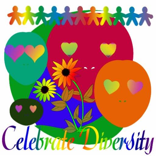 Celebrate Diversity Standing Photo Sculpture   Zazzle