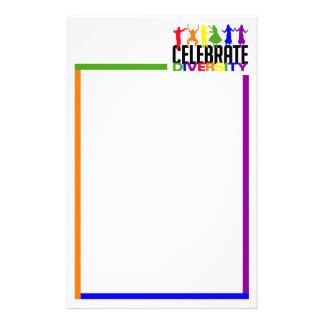 Celebrate Diversity stationary, customizable Stationery