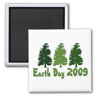 Celebrate Earth Day 2009 2 Inch Square Magnet