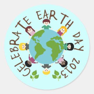 Celebrate Earth Day 2013 Classic Round Sticker