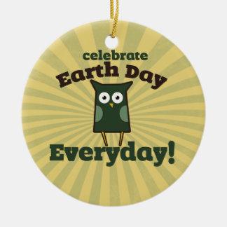 Celebrate Earth Day Ceramic Ornament