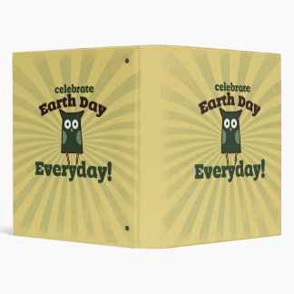 Celebrate earth day every day 3 ring binder