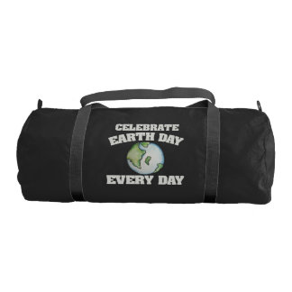 Celebrate earth day every day duffle bag