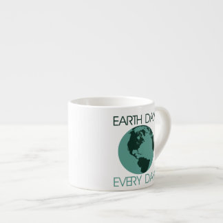 Celebrate earth day every day espresso cup