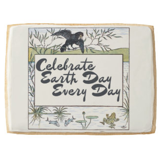 Celebrate earth day every day jumbo shortbread cookie