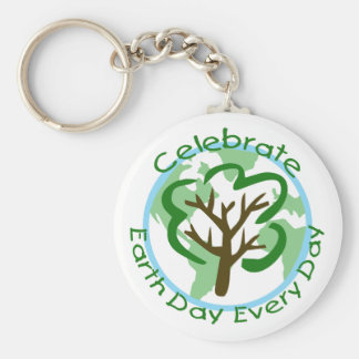 Celebrate Earth Day Every Day Keychain