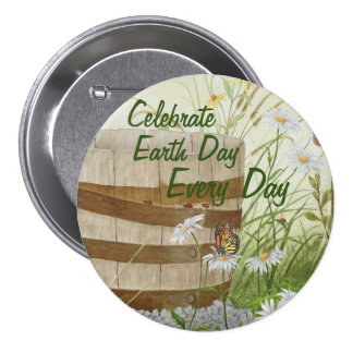 Celebrate Earth Day Every Day - Large Pin