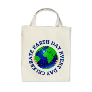 Celebrate Earth Day Every Day Organic Tote Bag