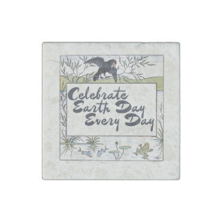 Celebrate earth day every day stone magnet