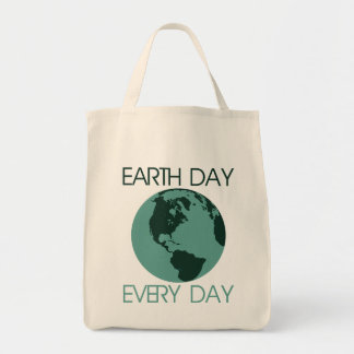 Celebrate earth day every day tote bag