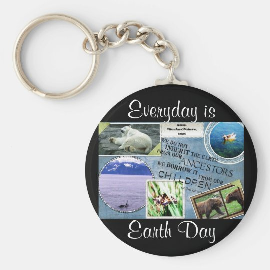 Celebrate Earth Day~ Everyday is Earth Day Keychain