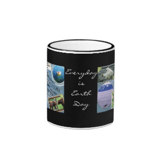 Celebrate Earth Day~ Everyday is Earth Day Ringer Coffee Mug