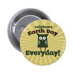 Celebrate Earth Day Everyday Owl 2 Inch Round Button