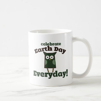 Celebrate Earth Day Everyday Owl Coffee Mug