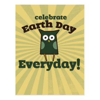 Celebrate Earth Day Everyday Owl Postcards