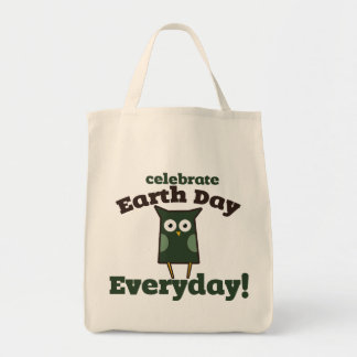 Celebrate Earth Day Everyday Owl Tote Bag