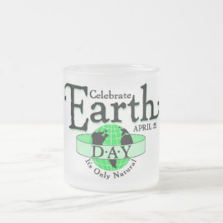 Celebrate Earth Day Frosted Glass Coffee Mug