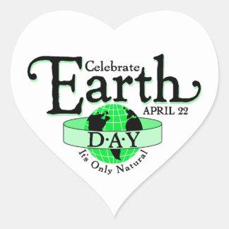Celebrate Earth Day Heart Sticker