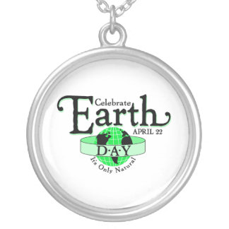 Celebrate Earth Day Round Pendant Necklace