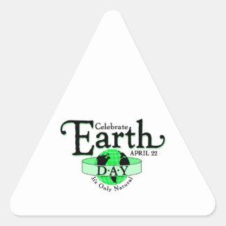 Celebrate Earth Day Triangle Sticker