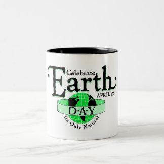 Celebrate Earth Day Two-Tone Coffee Mug