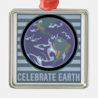 Celebrate Earth Metal Ornament
