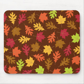 Celebrate Falling Autumn Colorful Leaves Pattern Mousepad