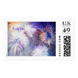 Celebrate Fireworks stamp
