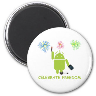 Celebrate Freedom (Android Software Developer) 2 Inch Round Magnet