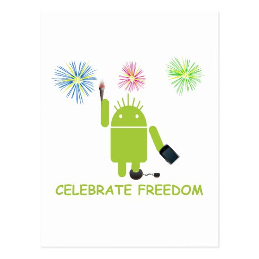 Celebrate Freedom (Android Software Developer) Post Card