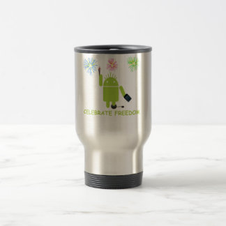 Celebrate Freedom (Android Software Developer) Travel Mug