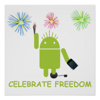 Celebrate Freedom Android Statue Of Liberty Posters