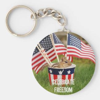 Celebrate Freedom Chipmunk Keychain