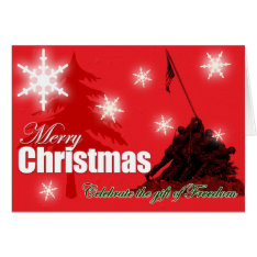 Celebrate Freedom Military Christmas Card at Zazzle