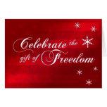 Celebrate Freedom Military Christmas Card